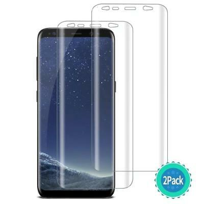 Samsung Galaxy S8/S9 Plus Note 8 A8 + TPU Film Shield Screen Protector [2Pack]