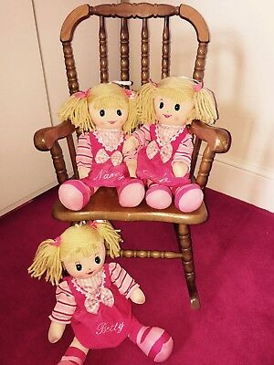New My first Rag Doll personalised Embroidered dolly baby shower gift large 6
