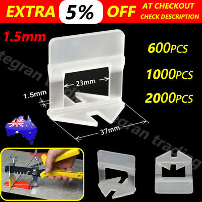 600- 4000x Tile Leveling System Clips Levelling Spacer Tiling Tool Floor Wall AU