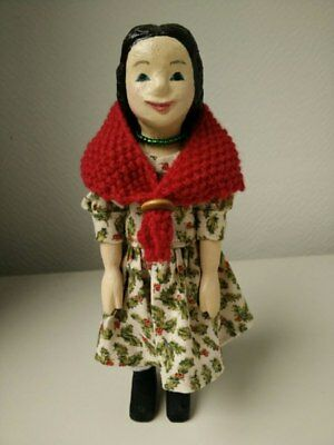 Hand carved Hitty doll