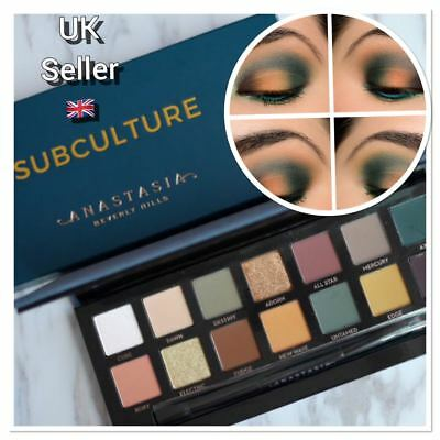 Anastasia Beverly Hills Subculture Eyeshadow shadow Palette 14 Colours makeup UK