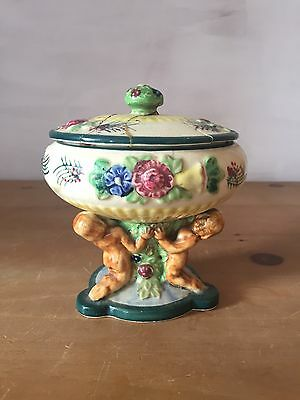 Maruhon Ware Japanese Pedestal Dish From 1920s-30s