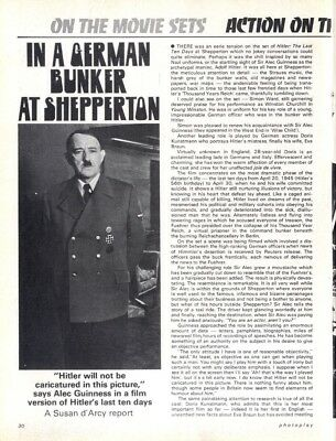 Pp72/12P30 Alex Guiness At Adolf Hitler Article & Picture(S)