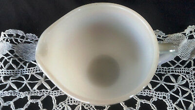 Retro Vintage Fire King Fire Fire King Luster Ware white jug
