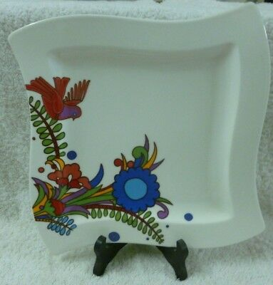 """Villeroy & Boch """"ACAPULCO"""" New Wave Plate 1748 (25cm x 25cm) Made In Luxemberg"""