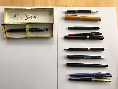 Vintage Fountain pens and mechanical  pencils, spare or repair