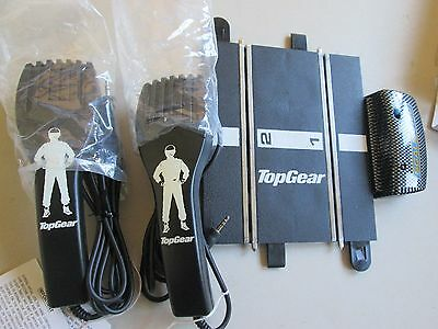 scalextric sport 1/32 power controllers x2 & track terminal Top Gear slot car
