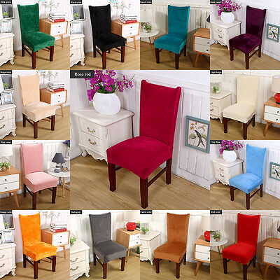 Elastic Velvet Thick Chair Cover Home Anti Dirty Wedding Party Stretch Seat Case