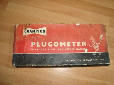 Vintage Champion Plugometer With Gap Tool And Feeler Gauges