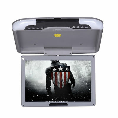 "13"" LCD TFT Car Ceiling Flip Down Overhead Roof Mount Wide Screen Monitor Grey"