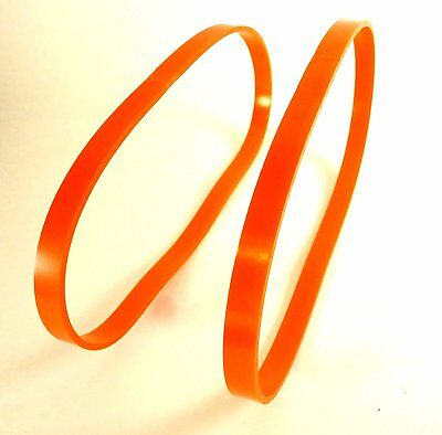 """Set of 2 Orange Urethane Band Saw TIRES 1"""" Wide By 14"""" Diameter 0.095"""" Thick in"""