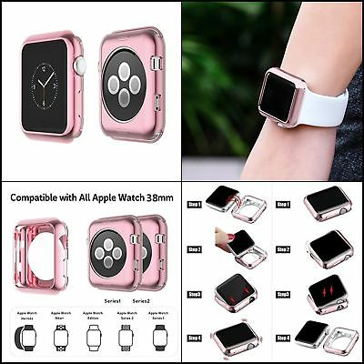 Rugged Protective Soft Case Accessories For 38mm Apple Watch Series 1, 2 ROSE