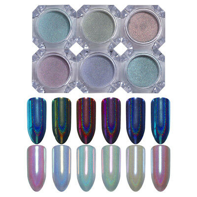 0.5g BORN PRETTY Holographic Chameleon Nail Art Powder Dust Mirror Pigment DIY