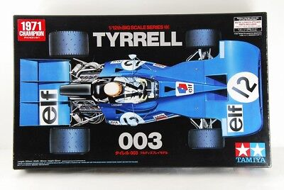 TAMIYA 1/12 TYRRELL 003 ETCHED PARTS INCLUDED BIG SCALE SERIES No,39 VERY RARE!!