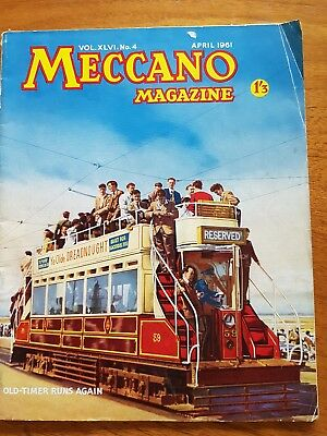 vintage meccano magazine April 1961 good condition