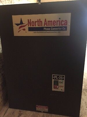 Rotary Phase Converter PL-25 Pro-Line 25HP -  Built-In Starter, MADE IN THE USA