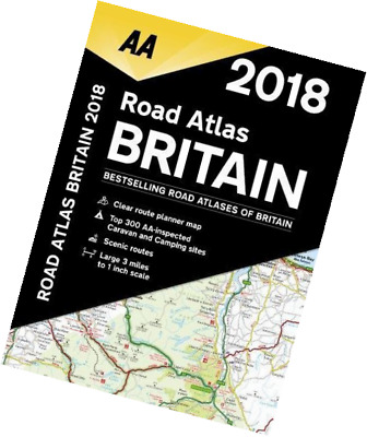 AA Road Atlas Britain 2018 Spiral Bound NEW UK Map
