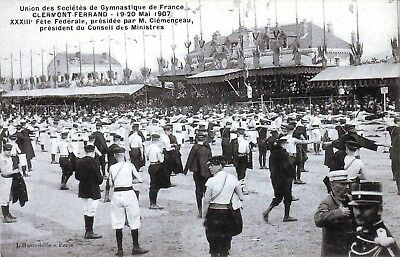 63 - Clermont Ferrand - Fetes Federales - M Clemenceau    1907  Animee