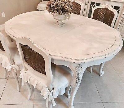 French Dining Table 3 Leaves Farmhouse, Shabby Chic, Coastal