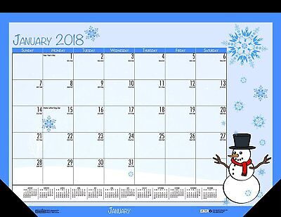 House of Doolittle 2018 Monthly Desk Pad Calendar, Seasonal, 22 x 17 inches, -