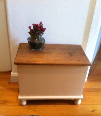Vintage Wooden Chest, Hand Made Candle, Succulent In A Glass Jar