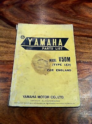 Yamaha V50M Parts List Book