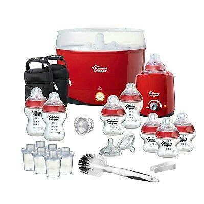Tommee Tippee Closer to Nature BPA Free Electric Steam Steriliser & Kits RED