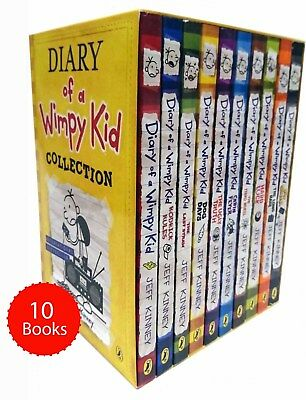 Diary of a Wimpy Kid Collection 10 Books Box Set Pack