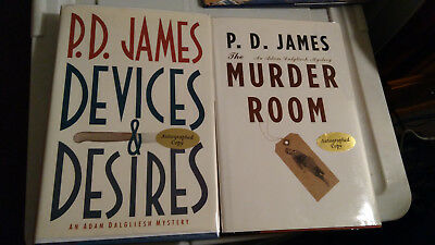 Lot of 2 P.D. James ***SIGNED 1st Editions*** Very good/Like New condition