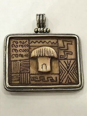 Solid Silver Egyptian Revival style pendant