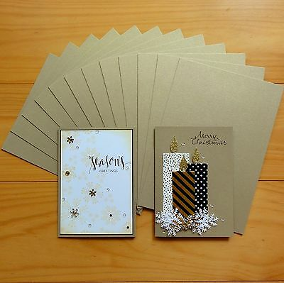 PREMIUM GOLD LEAF METALLIC SHIMMER CARD A4 x 10 SHTS - NEW