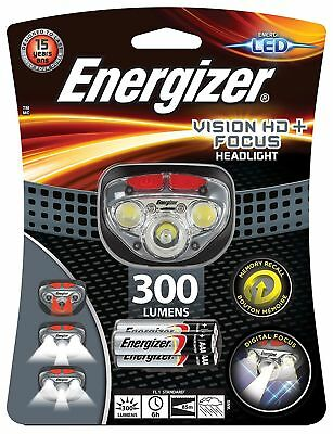 Energizer Vision HD+ Focus 300 Lumens Bright Headlight Torch inc 3 AAA Batteries