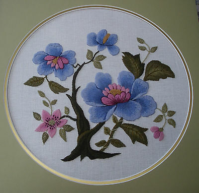 Japanese Blue Peony Tree-a crewel embroidery kit from the Needlewoman Studio