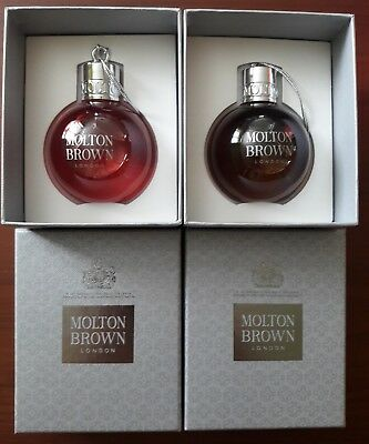 Molton Brown 2 x Festive Christmas Baubles BLACK PEPPERCORN and PINK PEPPERPOD