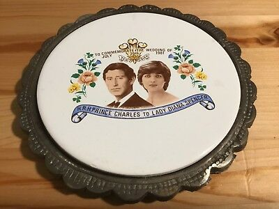 Vintage Charles And Dinana Commemorative Teapot Stand