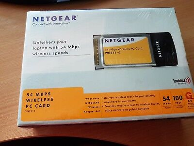 Netgear 54 MBPS wireless PC Card BNIB sealed
