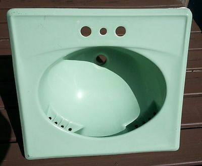 Mid Century Modern Ming Green Crane Vintage Space Race Bullnose Counter Sink