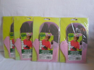 Lot of 4 Pair Pink Halloween Piggy Gloves by Darice