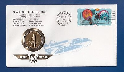 Space Shuttle Sts - 41G ** Numisbrief Usa  Aus 1984 Mit Space  Medal Sts - 41G