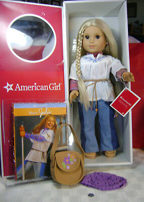 American Girl Doll Original Julie W/ Accessories Book & Box  Lovely Christmas