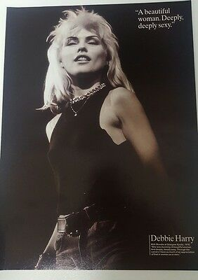 debbie harry blondie magazine poster print full page approx 22cm x29cm