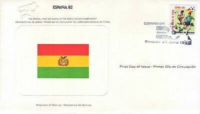 Bolivia - World Cup Soccer, Spain '82 (FDC) 1982