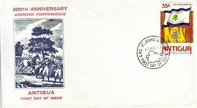 Antigua - 200th Anniversary of American Independence (PO FDC) 1976
