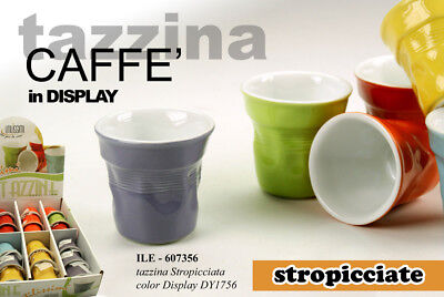 Set 6 Tazzine Caffe' Stropicciate In Porcellana Colorate Ile-607356