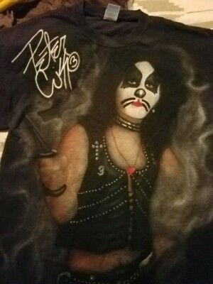 Kiss  Peter Criss Airbrushed T-Shirt by Don Armstrong