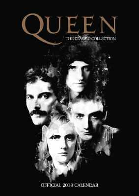 Queen Official 2018 A3 Wall Calendar Calender Poster Freddie Mercury May Taylor