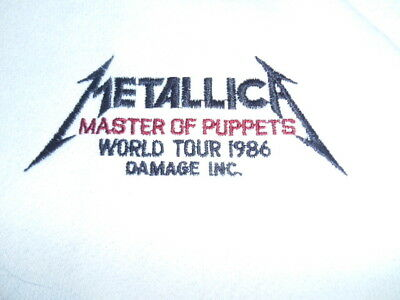 Metallica very very rare 1986 Master of puppets damage inc tour sweatshirt