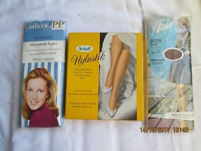 Vintage Ladies Tights and Stockings by Flair, Pretty Polly & Scholl - 3 Packets