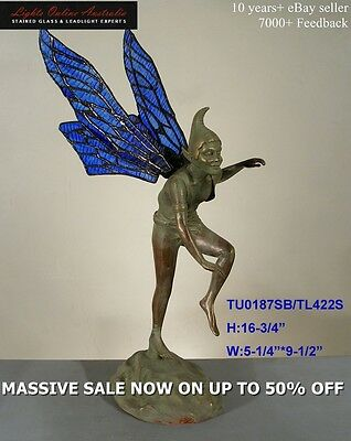 Leadlight Glass Elf Winged Garden Statues