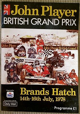 Formula 1 - 1978 British Grand Prix Official Programme with race card